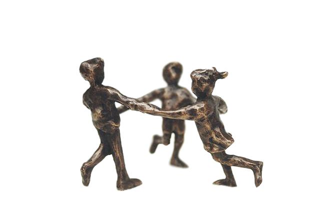Kleine Bronzen Beeldjes.Bronzen Beeldjes